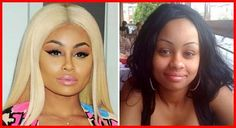 (Right) Blac Chyna Before Plastic Surgery