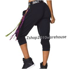 Zumba FUNKY DANCE PANTS Boss Side Pockets BLK fr Orlando Convention SOLD OUT!! #ZumbaFitness #PantsTightsLeggings