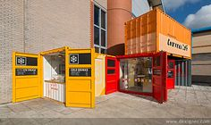 Three New Restaurants at National Railway Museum Allude to the Glorious Heritage of Rail Travel Container Van, Coffee Container, Cargo Container, Container House Design, Atelier Loft, Museum Cafe, Container Restaurant, National Railway Museum, Shipping Container Homes