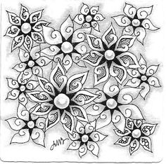"""Tickled To Tangle: """"Hey Bud!"""" Part 2 by Adele Bruno, Certified Zentangle Teacher"""
