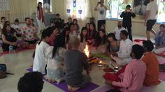 https://flic.kr/p/RJBegv | Hawan Pooja In Tattvaa Yogashala | yoga course in india