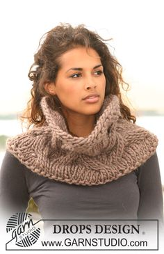 Neck Warmer.  Just over 100 yds of super bulky [wool blend or something] yarn on US 19/ 15 mm