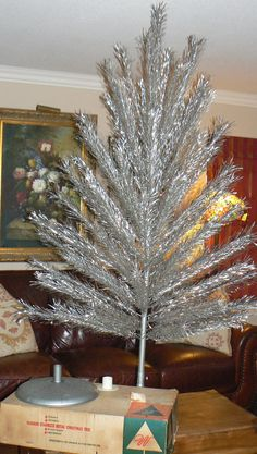 Mid Century 6 1/2 Foot 72 Branch Aluminum Christmas by KrauseHaus