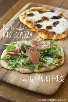 How to Make Rustic Pizza on the Panini Press (college students, rejoice!) -- step-by-step technique and tips at PaniniHappy.com