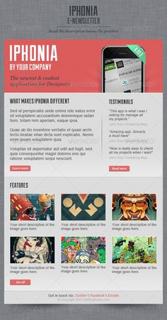 Iphonia Newsletter Template by ~Oscarvega