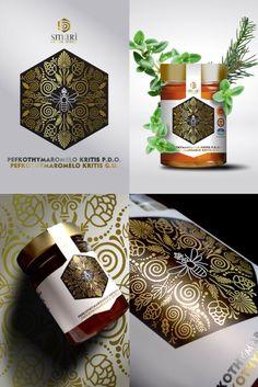 Σχεδιασμός ετικέτας για το πευκοθυμαρόμελο της εταιρείας Smari Cretan Honey . . . #packaging #label #honey #packagingdesign #greekdesigners #leftgraphic #smaricretanhoney Projects, Log Projects, Blue Prints