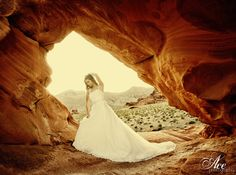 Bride in the Valley of Fire, just outside of #Vegas