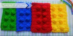 Instant Download Lego Block Crochet Pattern.
