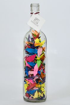 origami diy whine bottle colorful by Mairagens