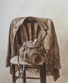Atanas Matsoureff, Old Jacket, watercolor 2011