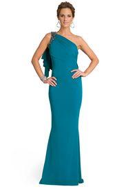 Badgley Mischka Alluring Aqua Gown, Love the color
