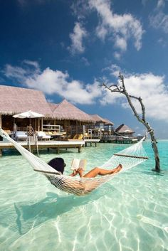 The ultimate holiday relaxation spot in the Maldives.