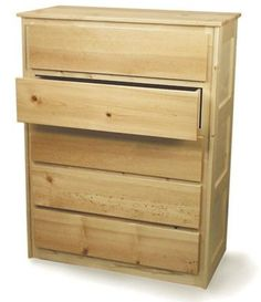 19-W2501 - Bedroom Five Drawer Chest Woodworking Plan