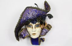 masquerade masks for women full face crystals and feathers - Google Search