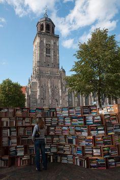 Book market Deventer, The Netherlands