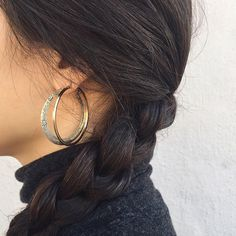 flora hoop earrings from nepal | See this Instagram photo by @fuggiamo #shopfuggiamo SHOP HERE: https://www.fuggiamo.com/products/flora-hoop-earrings