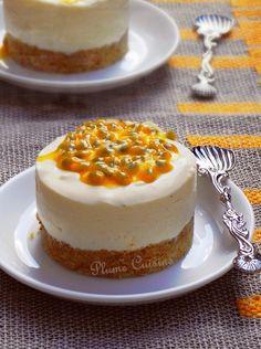 Mousse au yaourt à la vanille -orange-passion