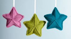 How to knit star ornaments, thanks so xox ☆ ★ https://www.pinterest.com/peacefuldoves/
