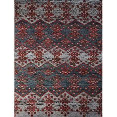 Found it at Wayfair - Silkshine Hand-Knotted Gray Area Rug