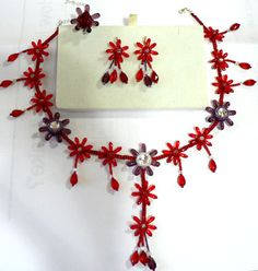 Red and lack Necklace - 1
