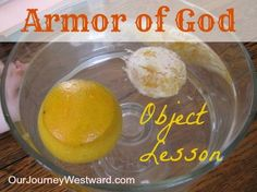 This Armor of God Object Lesson from Our Journey Westward would be a good visual to use in sunday school, bible study, youth group and more.