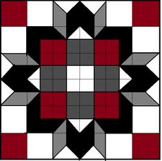 Barn Quilt Designs, Barn Quilt Patterns, Quilting Designs, Half Square Triangle Quilts Pattern, Square Quilt, Square Patterns, Big Block Quilts, Star Quilt Blocks, Honey Bee Home