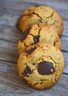Grain Free (Gluten-Free) Wheat-Belly-Friendly Chocolate Chip Cookies