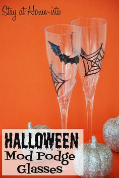 Stay at Home-ista: #Halloween #ModPodge Glasses (a Spooky Craft) #MPHalloween #MichaelsStores