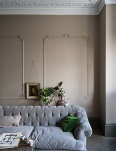 Expect some new adjectives to enter your colour vocabulary, because Farrow & Ball is adding nine new paint shades. Farrow & Ball new colours. Farrow Ball, Farrow And Ball Paint, Farrow And Ball Living Room, New Paint Colors, Wall Colors, Room Colors, Free Wallpaper Samples, Colors, Home Decor