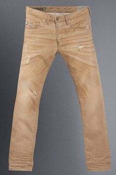 Men's diesel jeans Rocker Look, Mens Outdoor Clothing, Diesel Denim, Denim Jeans Men, Mens Fashion, Fashion Outfits, Colored Denim, Well Dressed Men, Denim Outfit