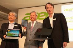 Acer launches 2 notebooks and a tablet that emphasize touch: http://cnet.co/11H8Q4L