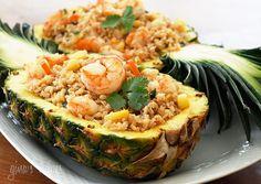 Pineapple Shrimp Fried Rice | Skinnytaste