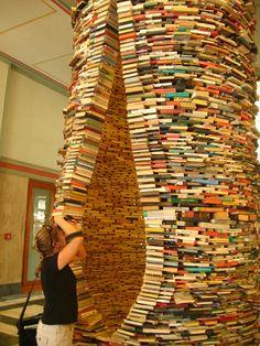 Book Sculpture  Prague - #BookArt #Sculptures #AlteredBooks #Photographs #BookDesign #BookPaper #BookSculptures #Installation #RecycledBook #Bookish