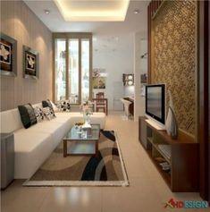 Narrow Kitchen & Living Room Design Ideas