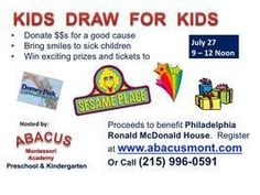 Kids Draw for Kids Fundraiser Chalfont, PA #Kids #Events