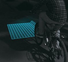 Lumigrids:LED projector projecting a square grid, allowing riders to see the terrain ahead