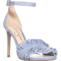 Jessica Simpson Silea Ankle Strap Sandals, Vintage Blue    #jessicasimpson #jeans #vintage #anklestrap #sandals #blue #heels #shoes #shopping #fashion #retail #womensfashion #trend #love