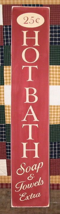 Hot bath sign