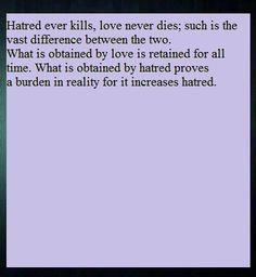 Gandhi-Love and Hatred