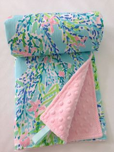 Lilly Pulitzer Baby Blanket Lilly Pulitzer by SweetBabyBurpies