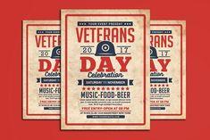 Veterans Day Flyer by muhamadiqbalhidayat on @creativemarket