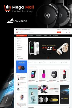 Buy Megamall Multipurpose Stencil BigCommerce by Webibazaar-Themes on ThemeForest. Overview Megamall – Multipurpose Stencil Bigcommerce Theme is a modern, clean and professional BigCommerce theme is . Ecommerce Website Design, Website Design Layout, Website Design Inspiration, Beautiful Website Design, News Web Design, Electronic Shop, Pose, Branding Your Business, Photoshop