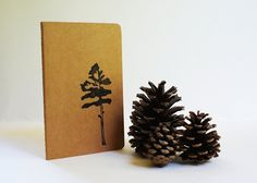 Loblolly Pine Tree Blank Journal Pocket Size by subtleacts on Etsy, $10.00