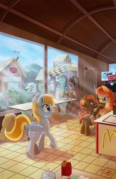 LOOK IT'S BUTTON MASH AND THE DOCTOR A THE TWO BEST BACKGROUND FRIENDS FOREVER, LYRA AND BON BON THIS PIC IS AMAZING