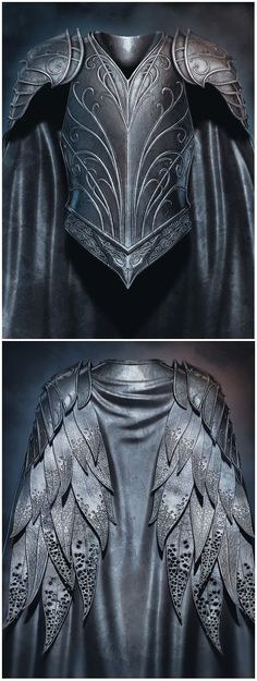 Metal armor wings chest