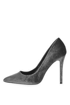 MAGGIE Velvet Point Court Shoes