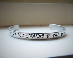 Hand Stamped Bracelet Dr. Who We're all by ChrisClosetCreations