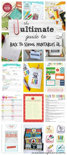 The ULTIMATE Guide to Back to School Printables