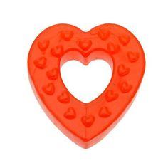 Seven Creations Heart Shape Silikon-Penisring in rot