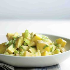 Potato Salad with Celery and Scallions @keyingredient